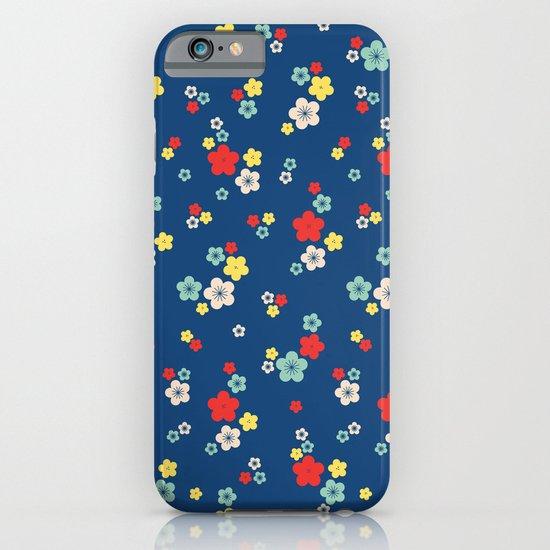 blossom ditsy in monaco blue iPhone & iPod Case