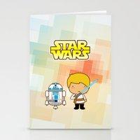 Luke Skywalker And R2D2 Stationery Cards