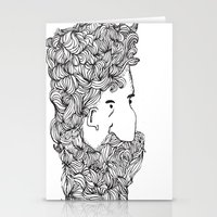 Bearded Man Stationery Cards