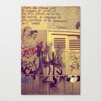 French Graffiti, Paris-2 Canvas Print
