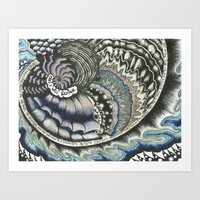 Golden Spiral (no Fear) Art Print