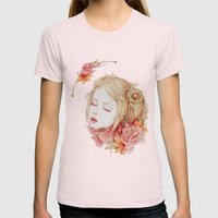Atonement Womens Fitted Tee Light Pink SMALL