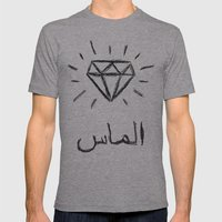 Diamond Mens Fitted Tee Athletic Grey SMALL