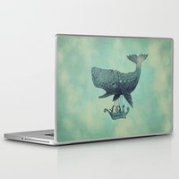 whale Laptop & iPad Skins featuring Tea at 2,000 Feet by Eric Fan