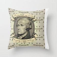 young scrappy and hungry Throw Pillow