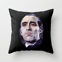 Christopher Lee As Dracu… Throw Pillow