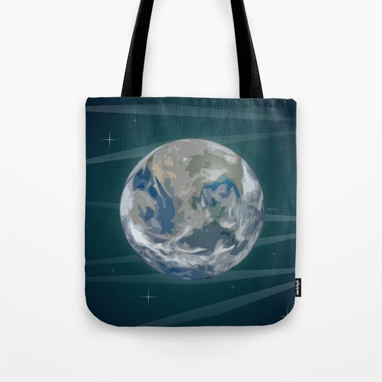 Earth In Space Tote Bag