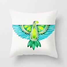 Parrot – Blue & Green Throw Pillow