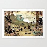 The Octonauts Sea Of Sha… Art Print