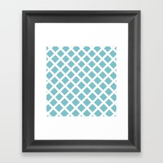 Grill In Blue And White Framed Art Print