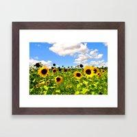 HAPPY FLOWERS. Framed Art Print