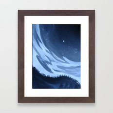 Distance binds us Framed Art Print