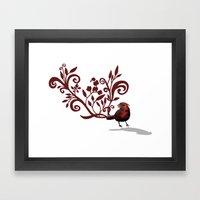 Swirly Bird Framed Art Print