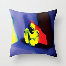 Lamentation in Blue, Yellow, and Orange Throw Pillow