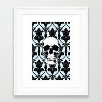 Skull Print Framed Art Print