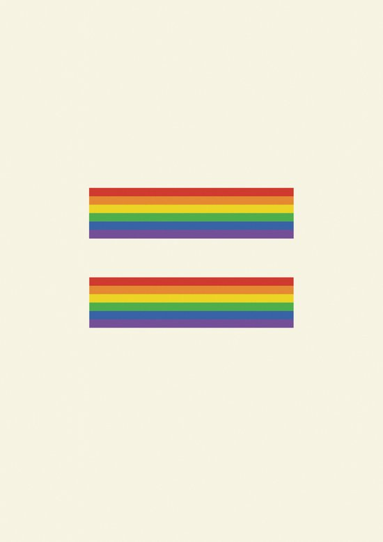 Equalities of the rainbow  Art Print