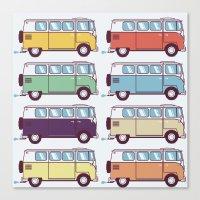 VW Van Parade Canvas Print
