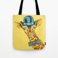 I'm too SASSY for my hat! Vintage Painted Giraffe. Tote Bag