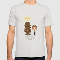 Star War Mens Fitted Tee Silver SMALL