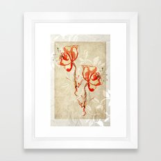 flower3 Framed Art Print