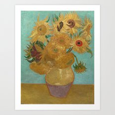 Vincent Van Gogh - Sunflowers Art Print