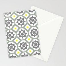Carina - grey yellow Stationery Cards