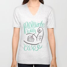 Motivate with Cake Unisex V-Neck