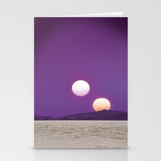Binary Sunset Stationery Card