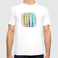 Surfboards Mens Fitted Tee White SMALL