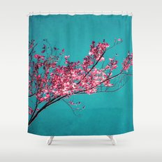 RED AUTUMN Shower Curtain