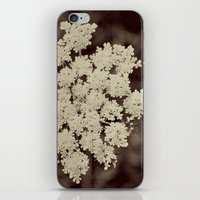 Lace Black and White Flower iPhone & iPod Skin