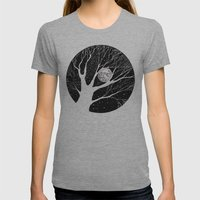 moonlight shadow Womens Fitted Tee Athletic Grey SMALL