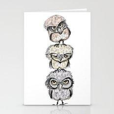 Owl totæm Stationery Cards