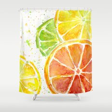 Fruit Watercolor Shower Curtain