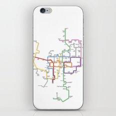 Minneapolis Skyway Map iPhone & iPod Skin