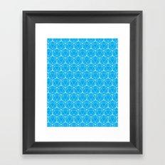 Icosahedron Pattern Brig… Framed Art Print