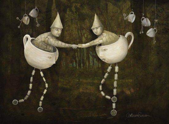 Teacup Greetings Art Print