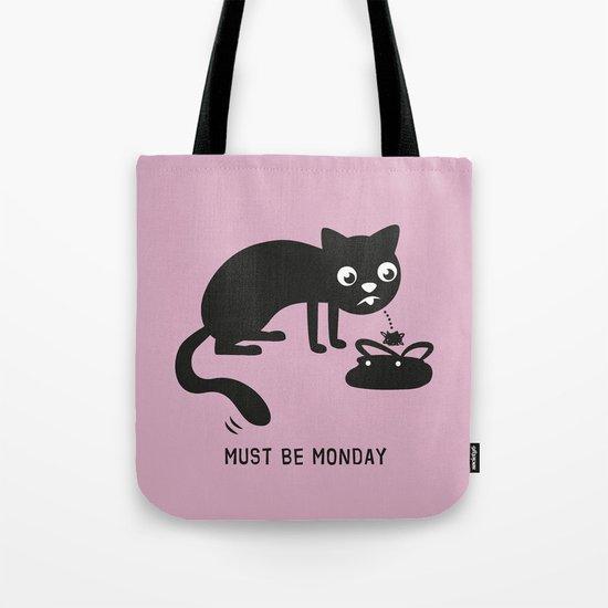Must Be Monday, Cat Tote Bag