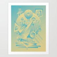Geometromorphic Sky Art Print