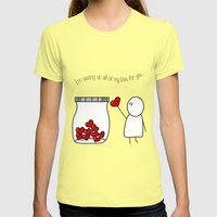 I'm Saving Up All My Lov… Womens Fitted Tee Lemon SMALL