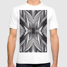 Paper Sculpture #8 SMALL Mens Fitted Tee White