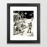 Encounter With The Chimn… Framed Art Print