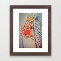 1930's Ferris Wheel Framed Art Print
