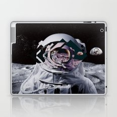 Spaceman oh spaceman, come rescue me (teal) Laptop & iPad Skin