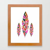 Brooklyn feathers Framed Art Print
