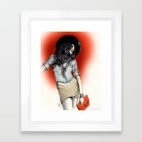 Haute Red Framed Art Print
