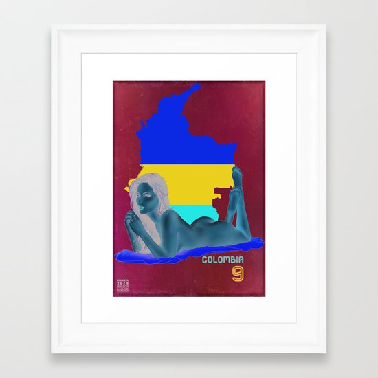 Colombia Framed Art Print
