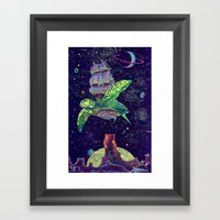 Sobaloopsian Turtleship Framed Art Print