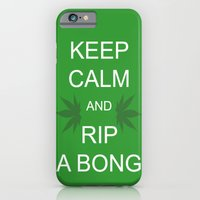 iPhone & iPod Case featuring Keep Calm and Rip a Bong by Stolen Milk