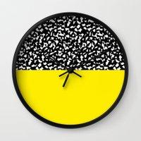 Memphis Black and Yellow 80s Wall Clock